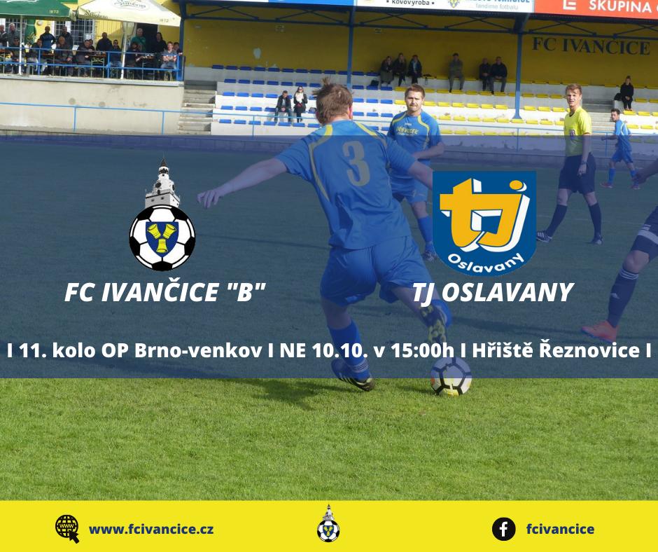 "Víkend nabídne derby ""B"" týmu s Oslavany"