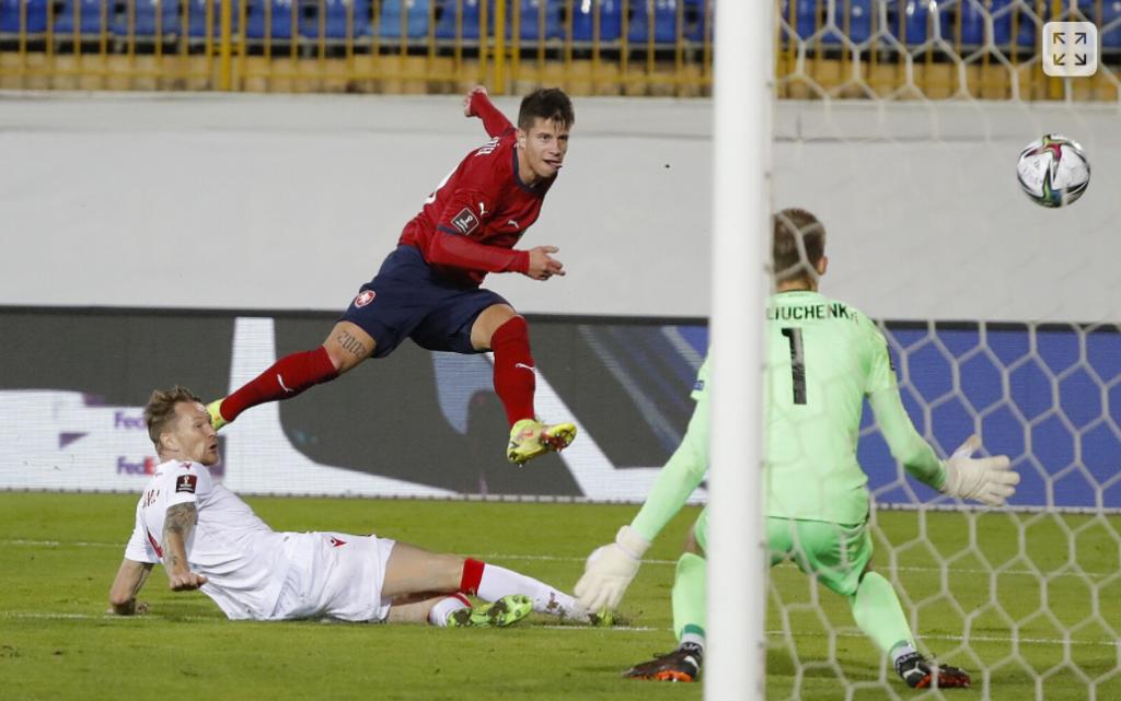 Adam Hložek vstřelil svůj první reprezentační gól!